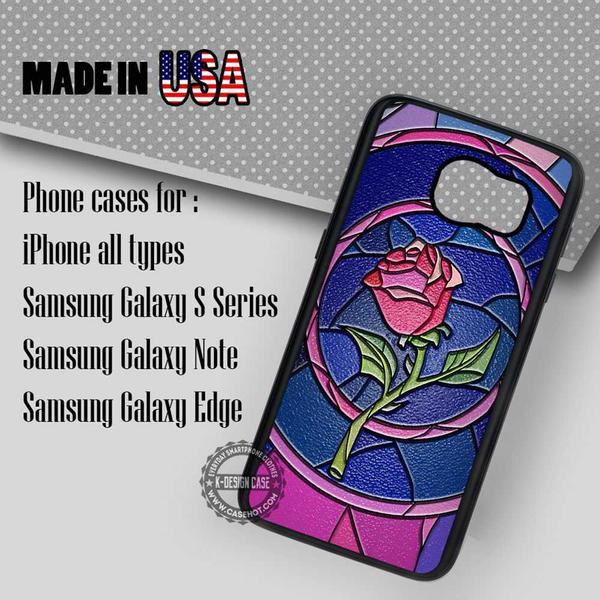 Samsung S7 Case - Rose Stained Glass - iPhone Case #SamsungS7Case #BeautyAndTheBeast #yn