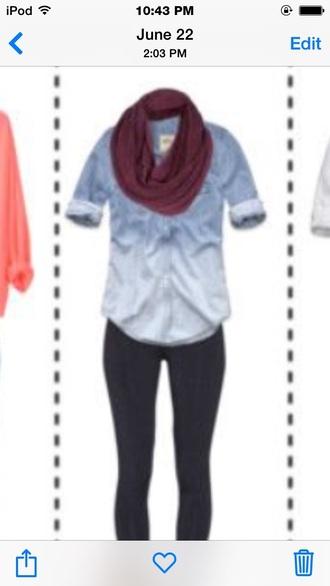 shirt denim long sleeves ombre