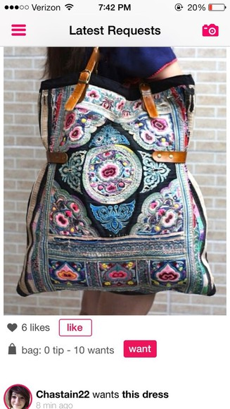 bag tote tribal aztec fashion street style new york purse pattern dress