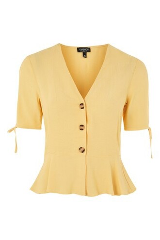 blouse yellow top