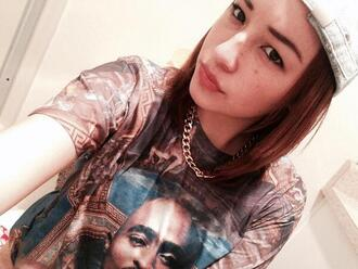 shirt top tupac art