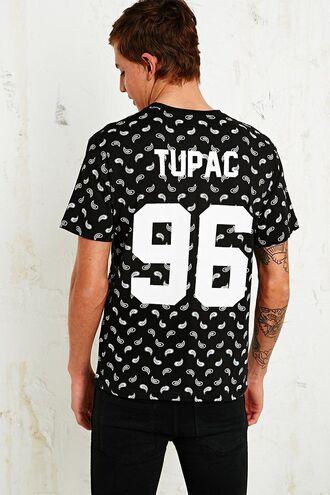 t-shirt bandana tee tupac shirt tupac96 tee thuglife