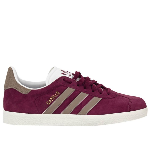 Adidas Originals sneakers. women sneakers shoes burgundy