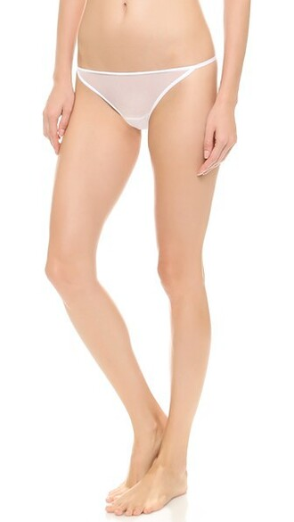 thong white underwear