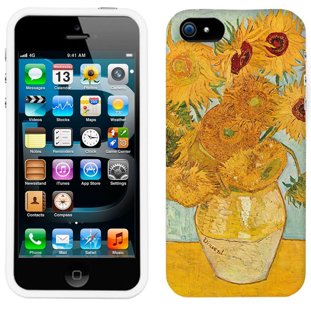 Amazon.com: apple iphone 5s van gogh vase with twelve sunflowers phone case cover: cell phones & accessories
