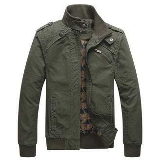 jacket jacket green bomber