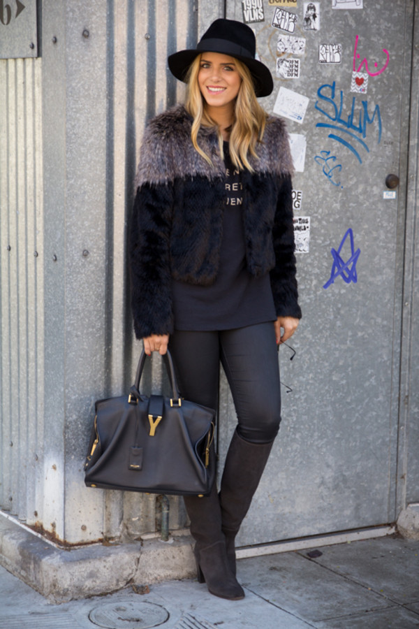 gal meets glam jacket jeans shoes hat bag