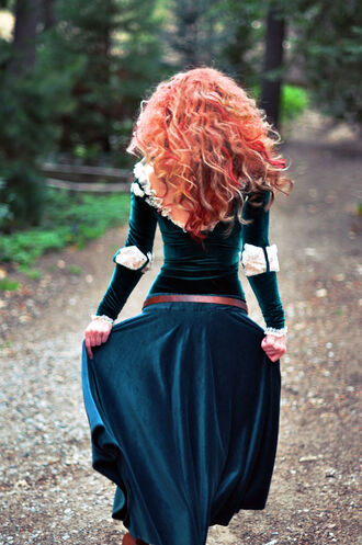 dress costume merida brave brave merida merida brave turquoise princess princess dress halloween halloween costume