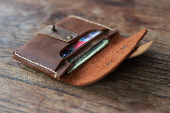 Treasure Chest Credit Card Wallet - Leather Wallets Quality Made for the Minimalist - 011 -Oiled Leather Wallets by JooJoobs