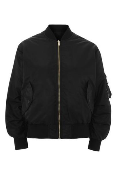 Topshop jacket bomber jacket oversized black