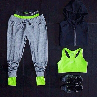 leggings neon nike pro workout gym joggers workout leggings