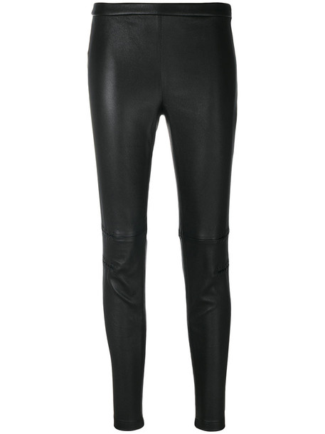 Alexander Mcqueen women spandex cotton black pants