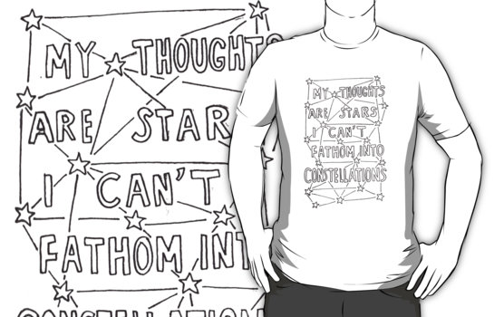 """""""my thoughts are stars i can't fathom into constellations"""