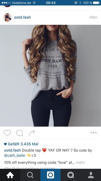 sweater grey sweater grey cool girl style outfit