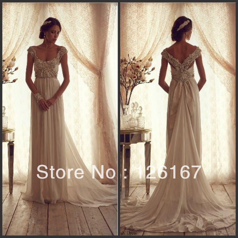 Free Shipping Heavy Crystal Cap Sleeves Backless Free Pattern Wedding Dresses -in Wedding Dresses from Apparel & Accessories on Aliexpress.com