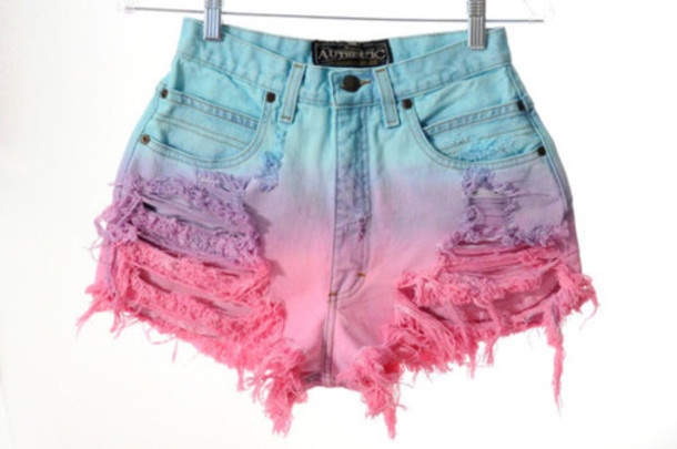 Purple Ombre Shorts - Shop for Purple Ombre Shorts on Wheretoget