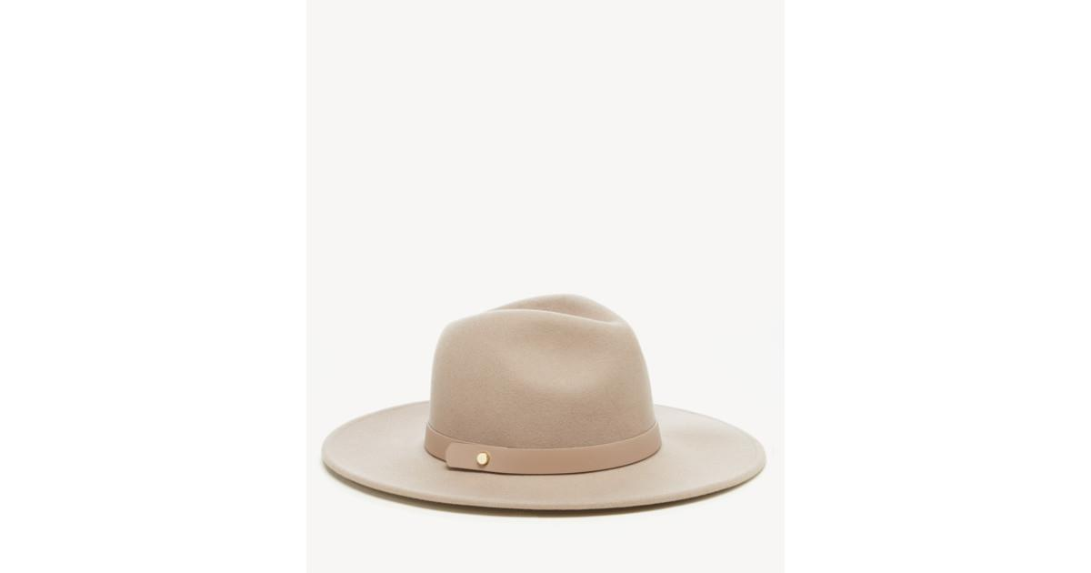 Wool Structured Hat w/ Genuine Leather Band