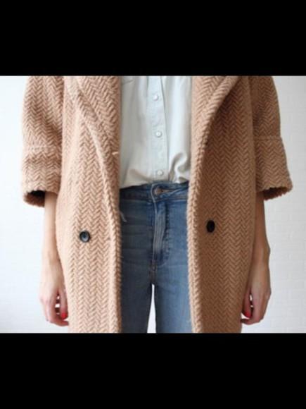 knitwear coat camel
