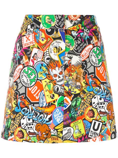 Moschino skirt mini skirt mini women cotton print