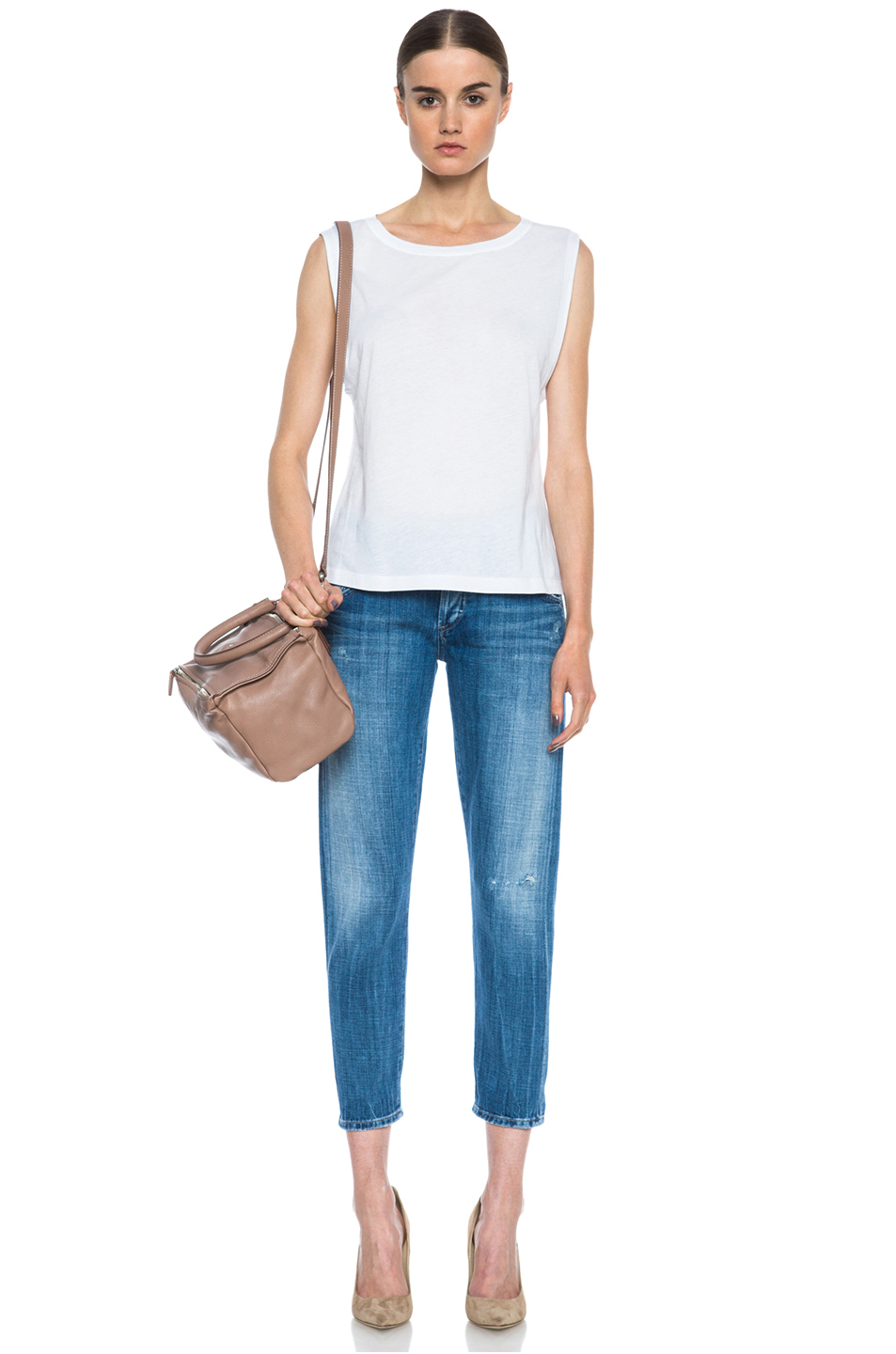 Citizens of Humanity|Skyler Low Rise Loose Crop Jean in Summit Denim