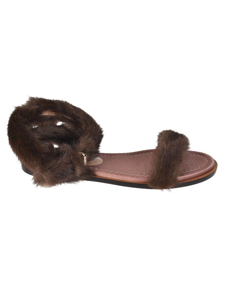 Valentino fur sandals shoes