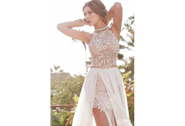 dress sexy lace dress long prom dress halter top hi low homecoming dresses see through dress slit dress split skirt split front