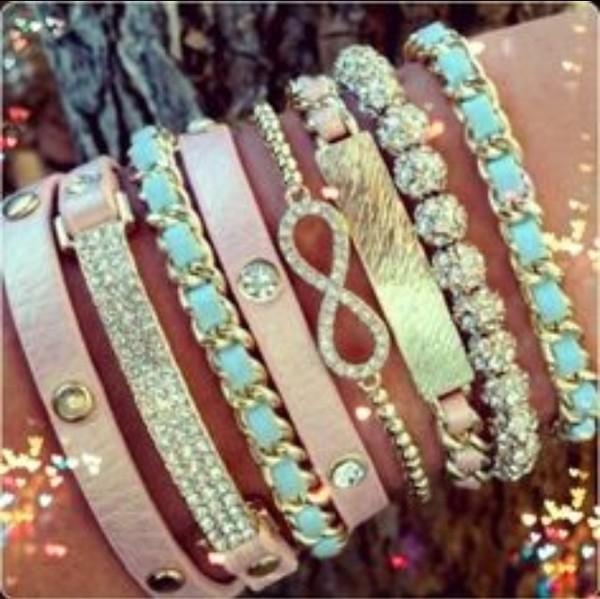 jewels bracelets gold pastel cute diamonds jewelry