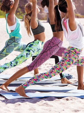 leggings neon pink victoria's secret sportswear gym victoria's secret leggings