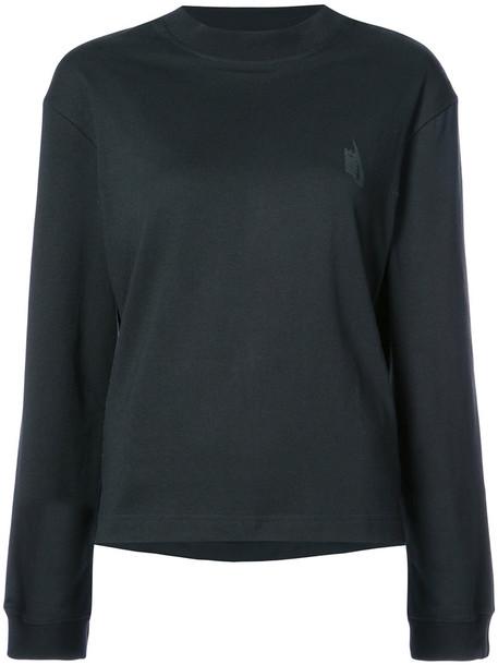 Nike - NikeLab rotated logo sweatshirt - women - Rayon/Polyester/Cotton - S, Black, Rayon/Polyester/Cotton