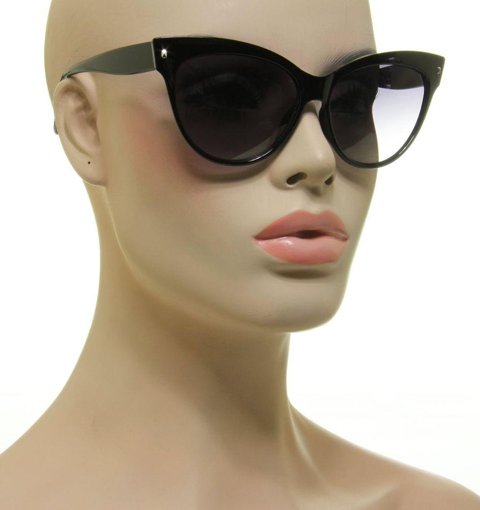 Womens cat eye sunglasses wayfarer retro designer fashion mohotani black