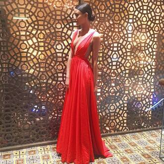 dress red dress ball gown dress formal dress winter formal dress