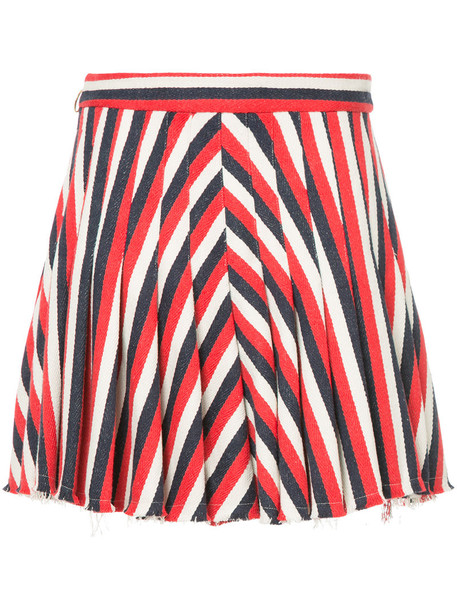 skirt mini skirt mini women cotton red
