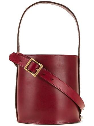 women bag tote bag red