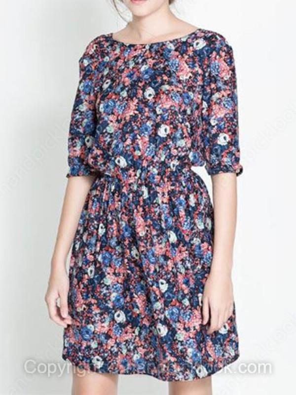 chiffon dress floral dress clothes woman dress