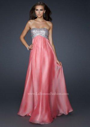 La Femme 17513 Pink Long Sequin Top Strapless Evening Dress [strapless sequin long prom dress] - $153.00 : Cheap La Femme Dresses, La Femme Dresses On Sale