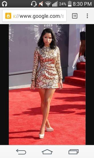 sequin dress nicki minaj mini dress long sleeve dress animal print