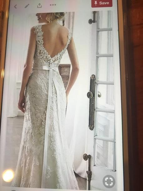 dress white lace wedding