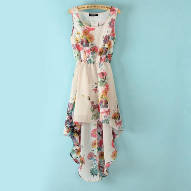 dress floral hi low dress floral dress spring clothes
