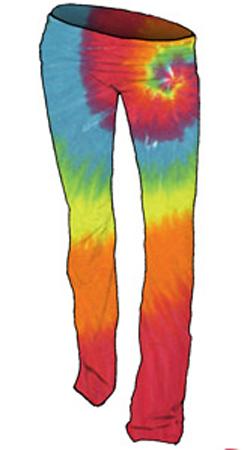 Rainbow Spiral Tie-Dye Ladies Yoga Pants (90522) - $30.00 :  Ladies Tie Dye Yoga Pants