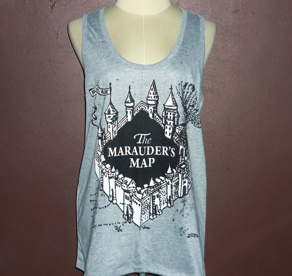 The marauder's map women clothes tank workout tank tops, movie shirts harry potter singlet pretty women tank tops, girl shirt, size s m l xl