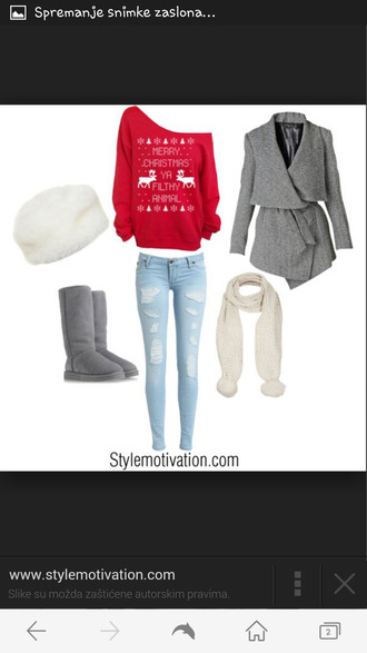 jeans disstresed disstressed jeans cold warm nice chrismas snow snowwhite