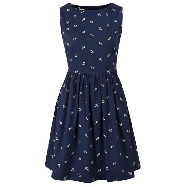 Louche Marrie Anchor print dress