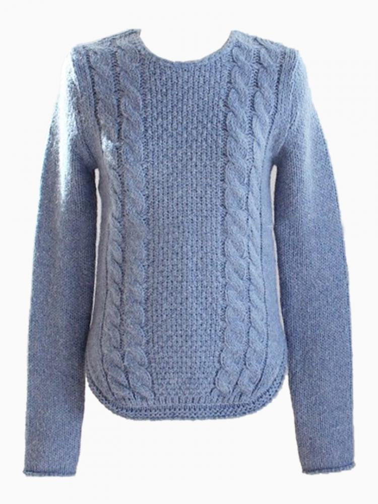 Cable Knit Jumper with Curved Hem | Choies