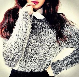 sweater style outfit cute sweaters black sweater white sweater black and white sweater fashion fashionables stylish lush nice classy cute sweater girly