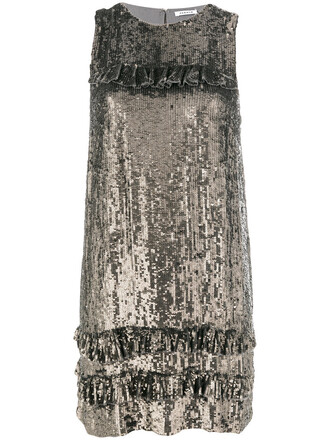 dress women grey metallic