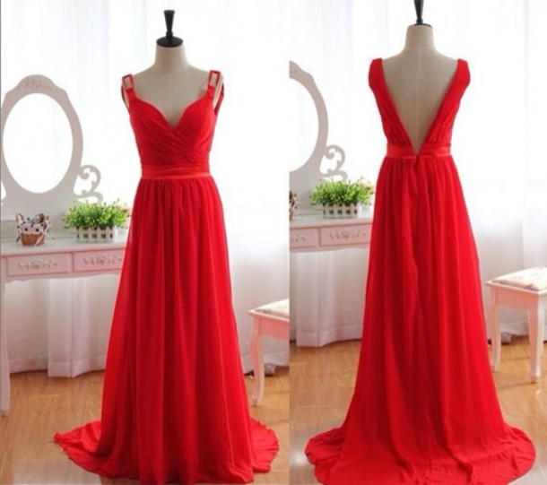 dress red dress evening dress elegant