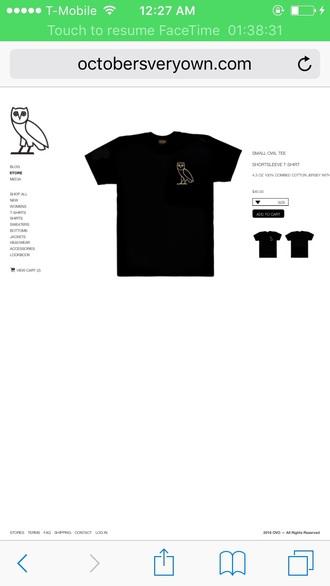 shirt black owl