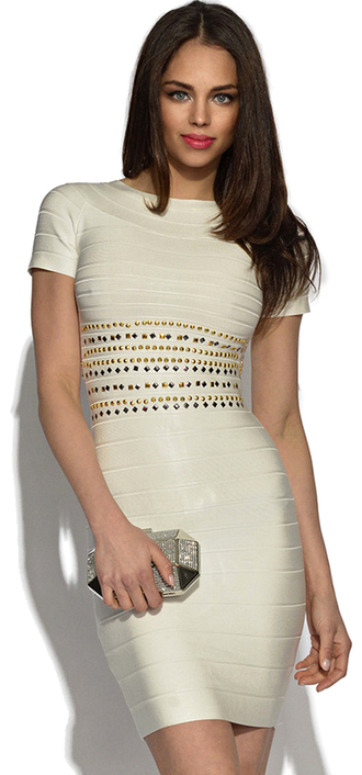 dress dream it wear it clothes studded beaded beaded dress studded dress cream cream dress beige beige dress short sleeve bodycon bodycon dress bandage bandage dress party party dress sexy party dresses sexy sexy dress party outfits summer summer dress summer outfits spring spring dress spring outfits fall dress fall outfits classy classy dress elegant elegant dress cocktail cocktail dress girly date outfit