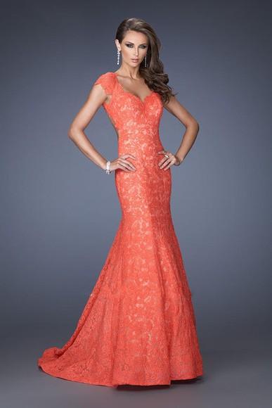 prom dress lace dress salmon dresses dress evening dress mermaid prom dresses homecoming dress prom dresses /graduation dress .party dress