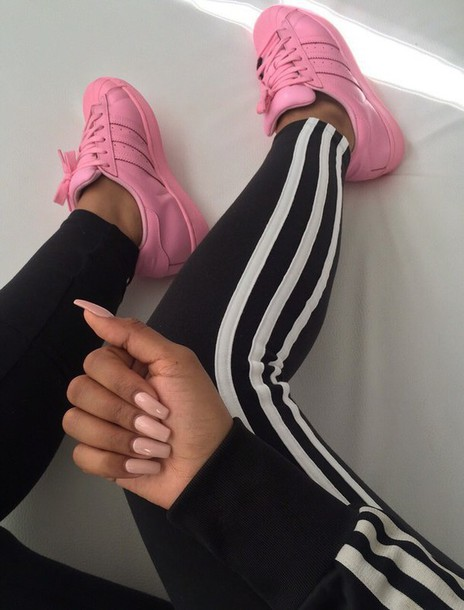 Shoes: pink, all pink everything, adidas shoes, adidas ... Girly Blog Instagram